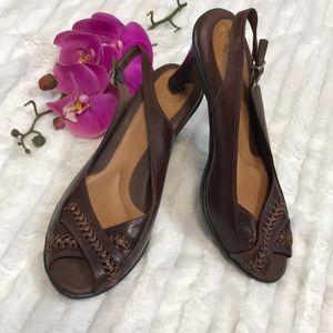 Nurture Shimmer brown sandal heels
